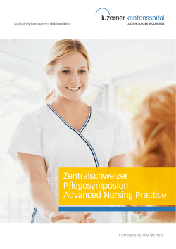 Zentralschweizer Pflegesymposium Advanced Nursing Practice