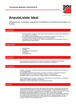 AnputzLeiste Ideal