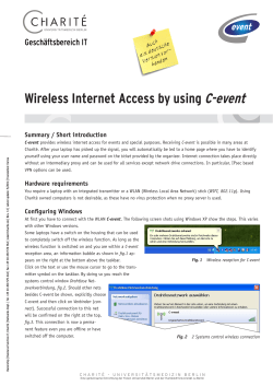 Wireless Internet Access by using C-event