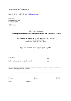 Registration form for Panel Discussion