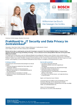 "Praktikant/-in ""IT Security und Data Privacy im Zentraleinkauf"""