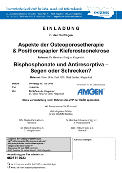 Bisphosphonate und Antiresorptiva