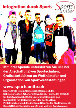 Integration durch Sport. www.sportsunite.ch