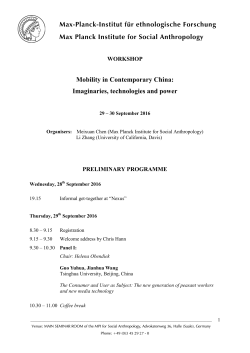 Mobility in Contemporary China