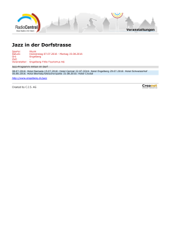Jazz in der Dorfstrasse