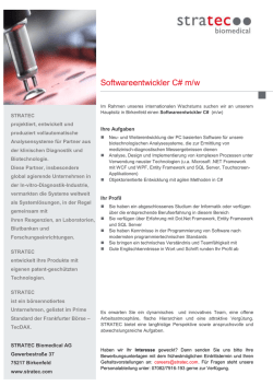 Softwareentwickler C# m/w