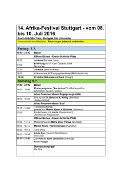 Download: Programm 2016 - Afrika