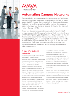Automating Campus Networks