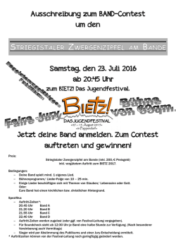 Band Contest 23.07.2016
