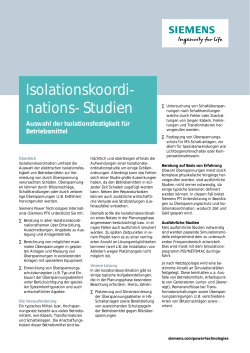 Isolationskoordi- nations- Studien