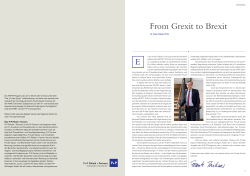 From Grexit to Brexit - P+P Pöllath + Partners
