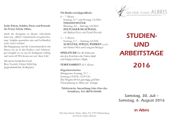 Studientage 2016 in Albris