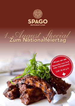 All you can eat Spareribs vom Grill oder Fajitaplausch