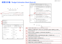Budget Estimation Sheet (Form 4)