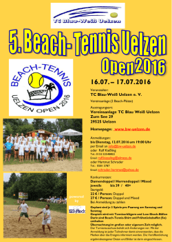 Beach Tennis Uelzen Open - TC Blau