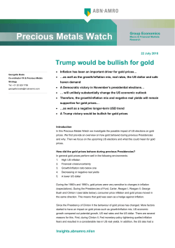 Precious Metals Watch