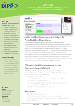DiPP IMS - DiPP Software
