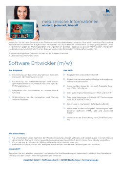 Software Entwickler (m/w)
