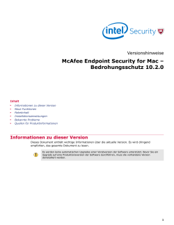 McAfee Endpoint Security for Mac