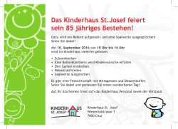 Flyer - Kinderhaus St. Josef