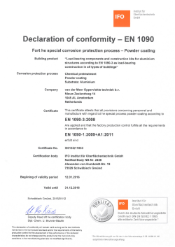Declaration of conformity - EN 1090