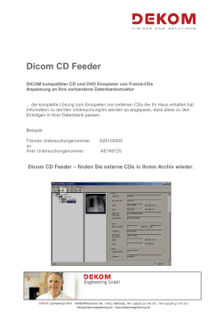 Feeder DICOM Fremd-CDs, pdf hier downloaden