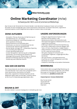 Online Marketing Coordinator (m/w)