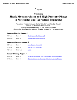 Shock Metamorphism and High Pressure Phases in Meteorites and