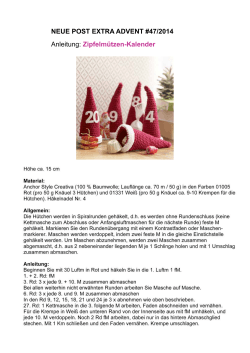 NEUE POST EXTRA ADVENT #47/2014 Anleitung