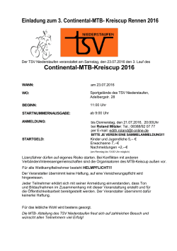 Continental-MTB-Kreiscup 2016 - TSV