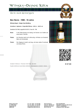 Whisky-Depot - Single Cask Bottling - Whisky
