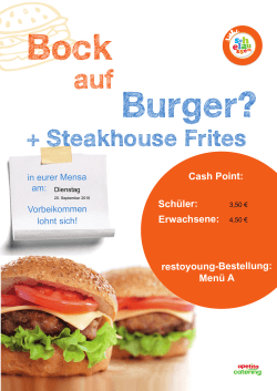 Burger-Aktion am 20.09.2016