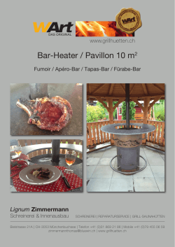 Bar-Heater / Pavillon 10 m2