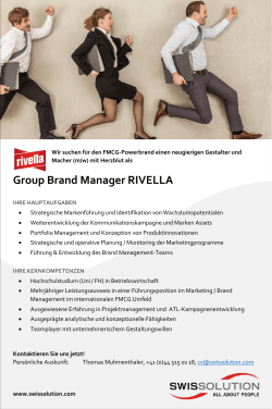 Group Brand Manager RIVELLA