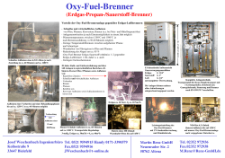 Oxy-Fuel-Brenner