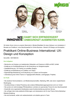 Praktikant Online-Business International: UX- Design