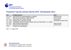 Programm downloaden - Tag des weissen Stocks