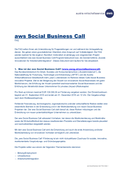 aws Social Business Call