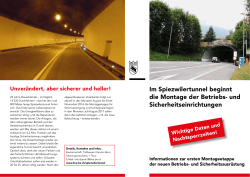 Sanierung Spiezwilertunnel
