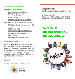 Werden Sie Integrationspatin / Integrationspate!