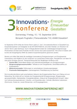 Programm 3. Innovationskonferenz