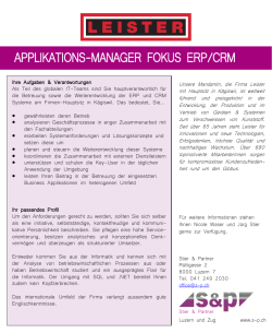 applikations-manager fokus erp/crm - s-p.ch