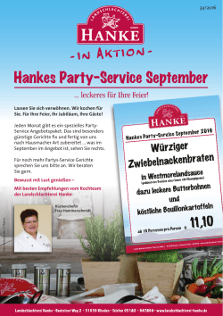 Hankes Party-Service September