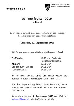 Sommerfechten 2016 in Basel