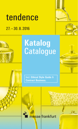 Kostenfreier Katalog-Download - Tendence