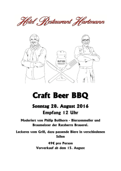 Craft Beer BBQ - Hotel Hartmann