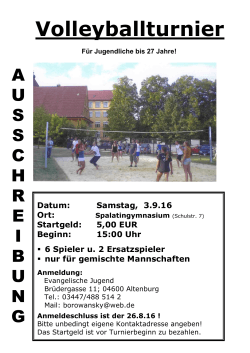 Volleyballturnier