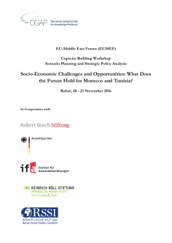 Socio-Economic Challenges and Opportunities: What Does the