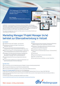 Marketing Manager/ Projekt Manager (m/w)