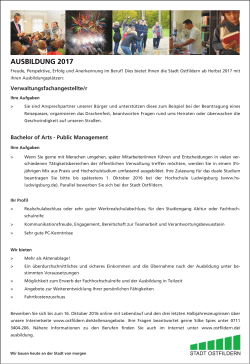 PraktikantIn Bachelor of Arts 2017 - Bewerbungs-Manager